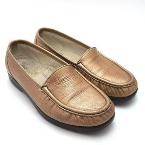 SAS Womens Classic Slip On Leather Loafers Size 8